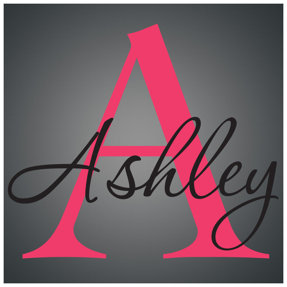 personalized name monogram   vinyl wall decal sticker