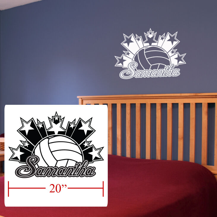 Volleyball Boys Girls Room Decor Personalized Stars