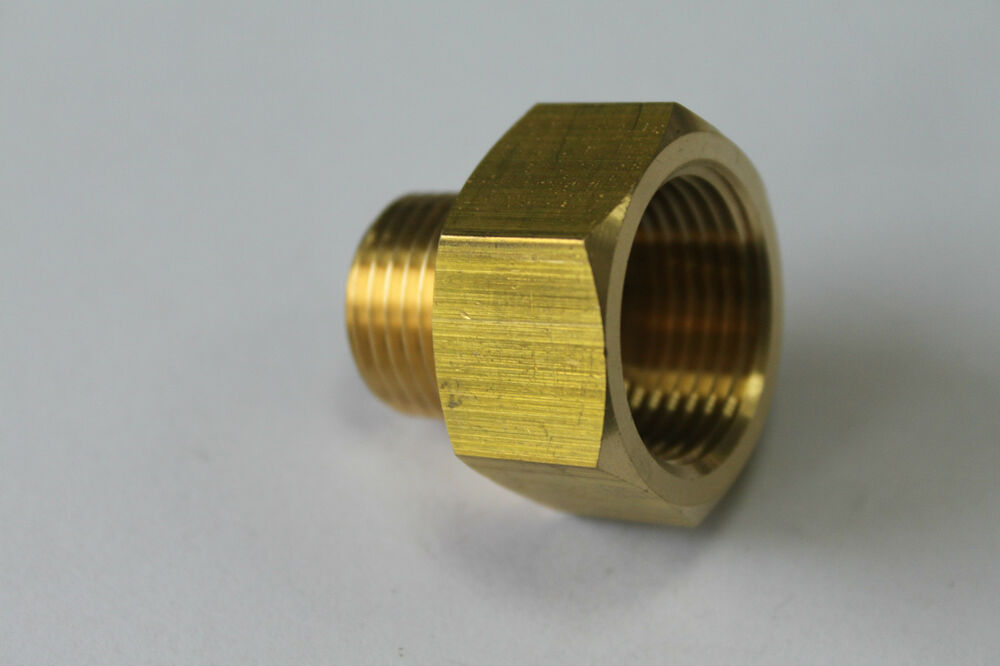 New brass pipe quot female male npt adapter