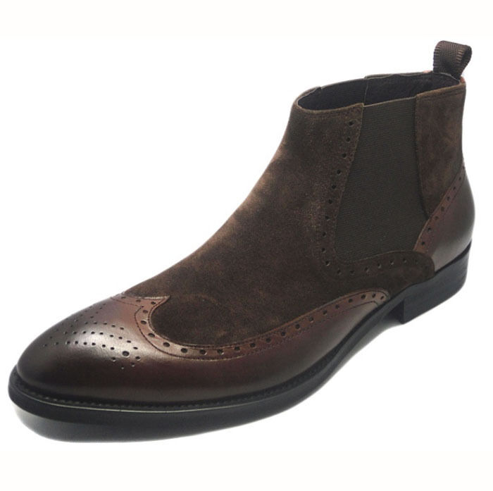 leather brogue wingtip two tone dress shoes martin boots