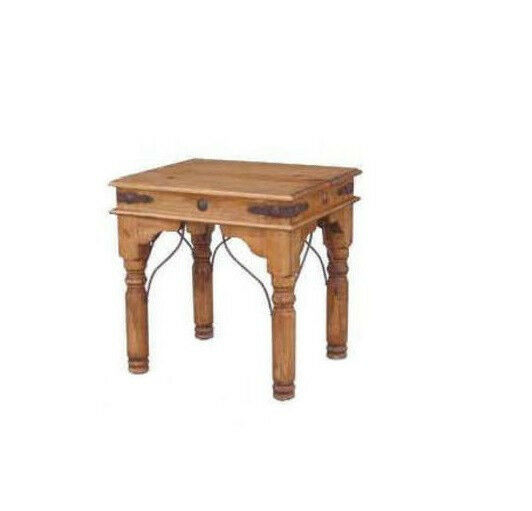 End table with conchos real solid wood rustic western for Table western