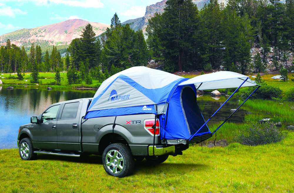 napier sportz truck tent for full size long bed pickup 2 person camping 57011 ebay. Black Bedroom Furniture Sets. Home Design Ideas