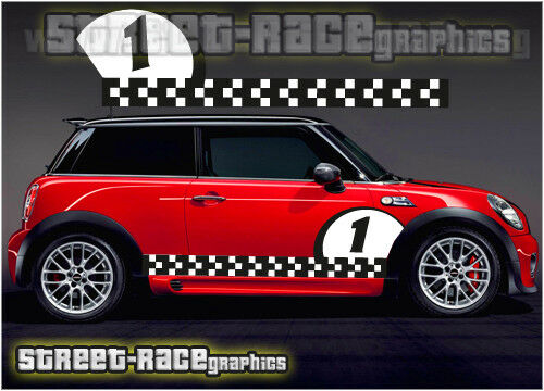 Mini Cooper S Works Side Racing Stripes 016a Vinyl