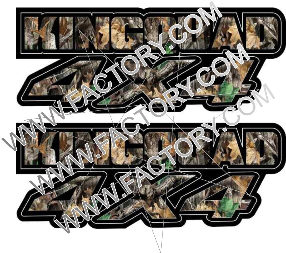 king quad 4x4 camo gas tank graphics decal sticker atv kingquad 750 300 plastic ebay. Black Bedroom Furniture Sets. Home Design Ideas