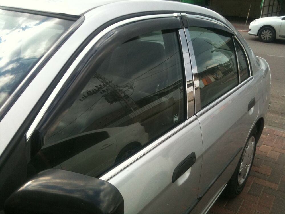 Chrome window sill trim honda civic ebay for 1993 honda civic window trim