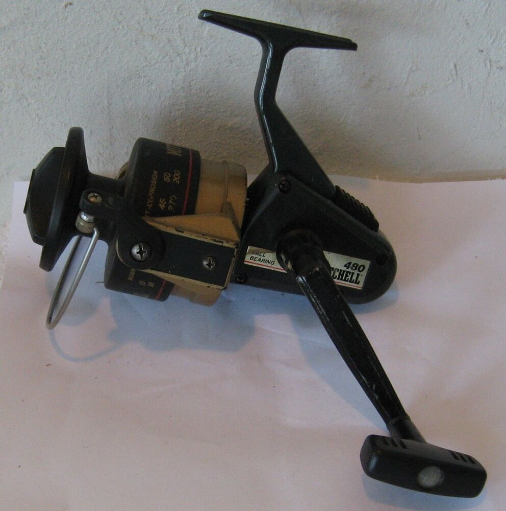 Vintage mitchell 480 spinning reel rare frs ebay for Old mitchell fishing reels