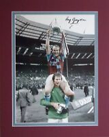 Ray Graydon signed Aston Villa 1975 League Cup Photo Proof Mounted 2 go in Frame