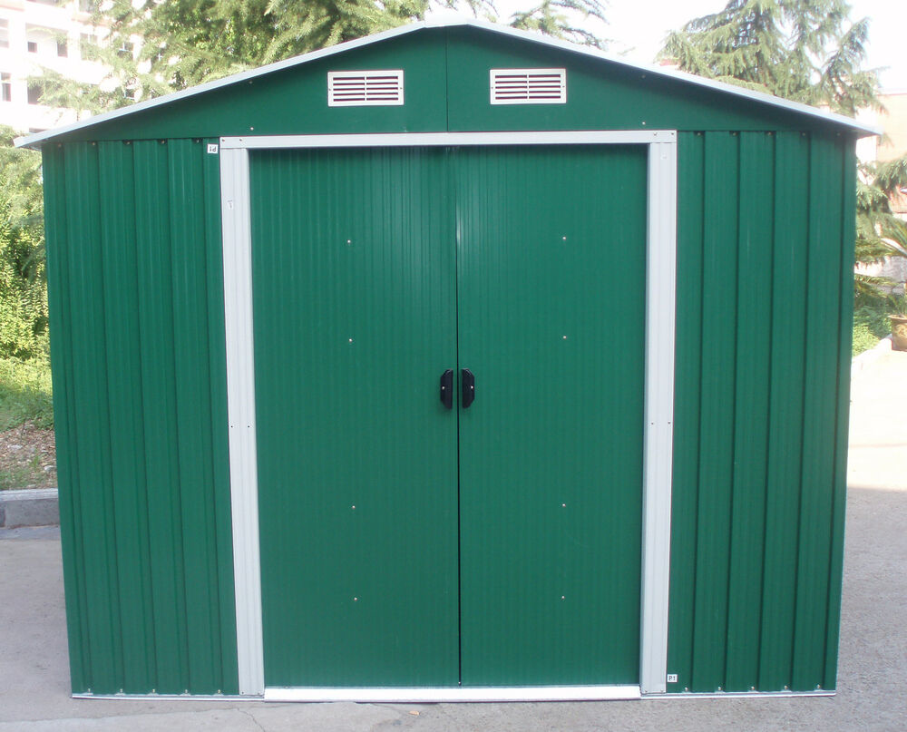 New metal garden shed 6 x 4 8 x 4 8 x 6 10 x 8 garden for Garden and storage sheds