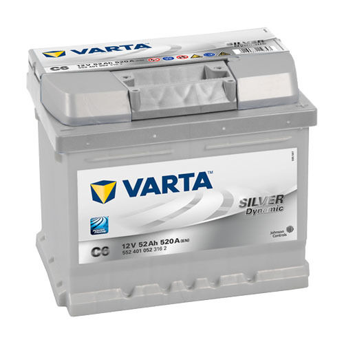 varta silver dynamic autobatterie c6 12v 52ah ers 36 41. Black Bedroom Furniture Sets. Home Design Ideas