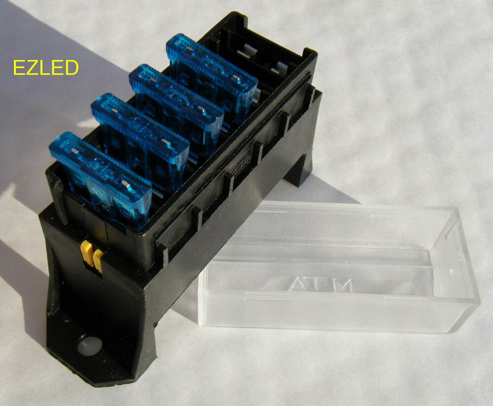 12 Volt 6 Way Fuse Block With 4 X 15 Amp Automotive Blade
