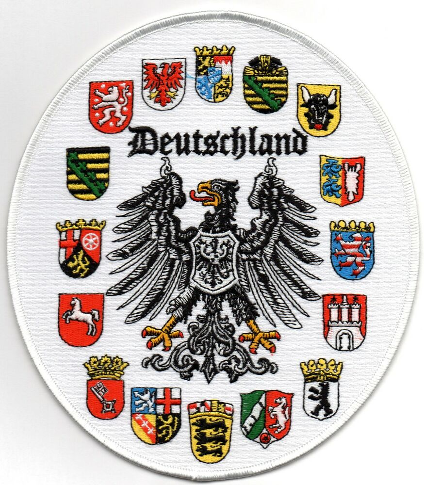 deutschland crest patch german eagle ebay. Black Bedroom Furniture Sets. Home Design Ideas