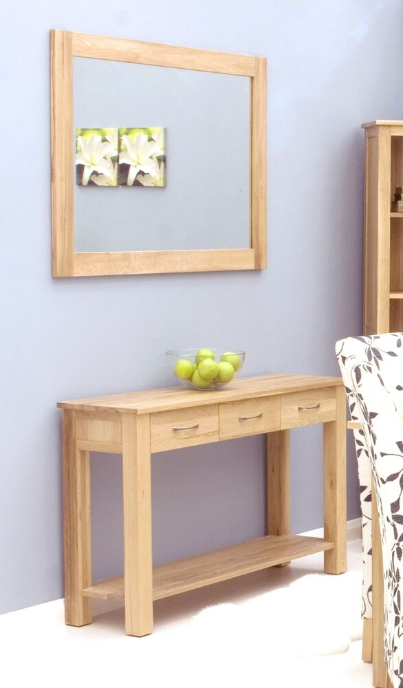 solid oak furniture living room hallway bedroom wall mirror ebay