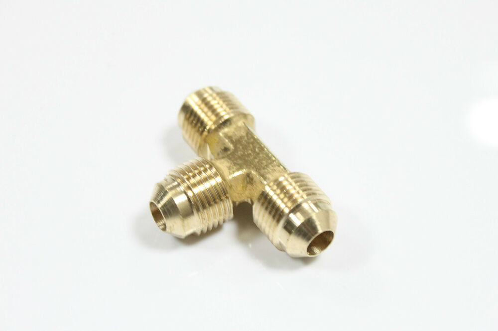 New brass quot od flare tee tube fitting