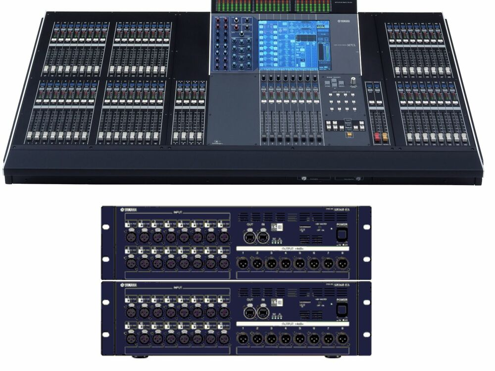 yamaha m7cl 48es 32x16 digital mixing system 2 x sb168 es ebay. Black Bedroom Furniture Sets. Home Design Ideas