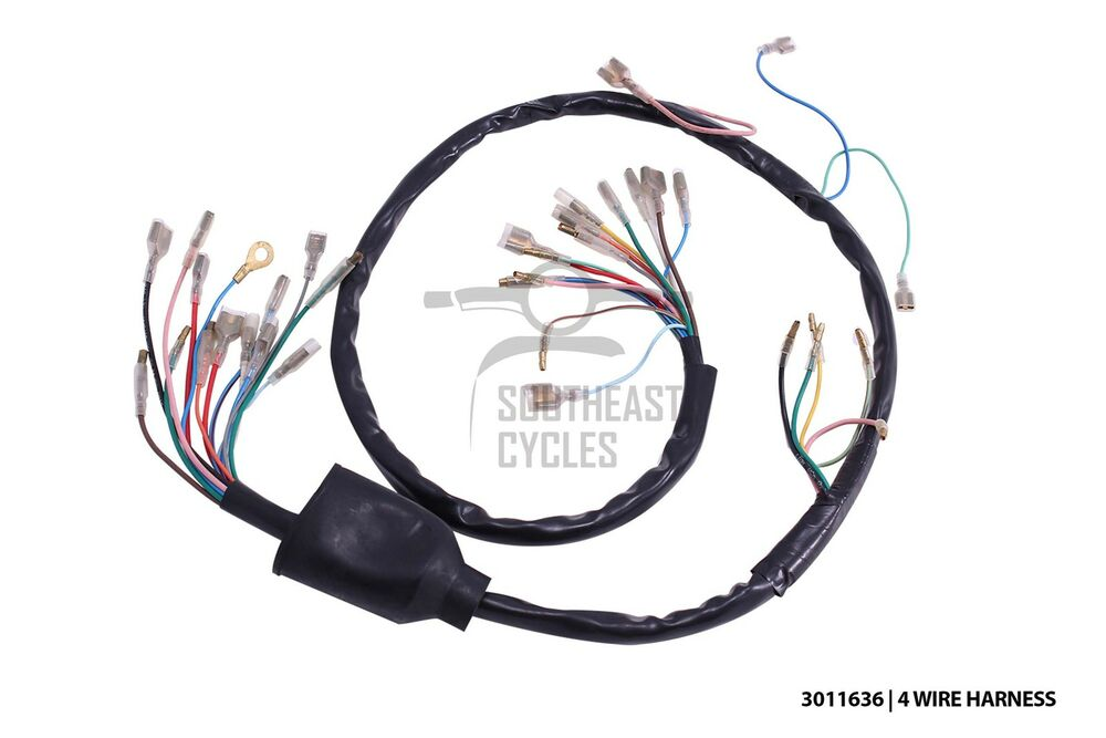 s l1000 high quality 6v wire harness loom (4wire) for honda cub c50 c65 honda c90 wiring diagram 6v at soozxer.org