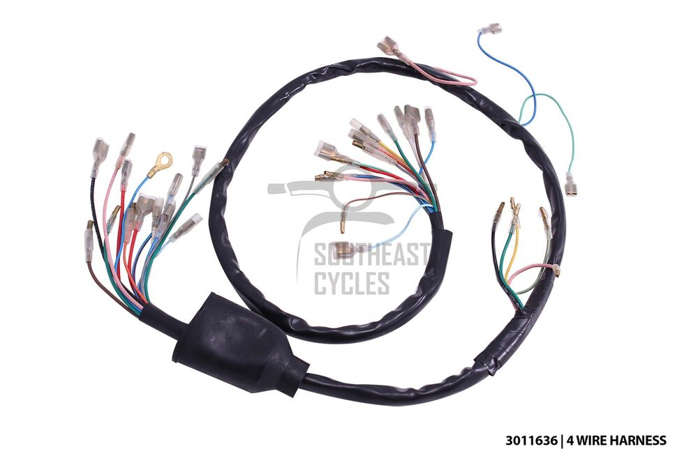 s l1000 high quality 6v wire harness loom (4wire) for honda cub c50 c65 honda c90 wiring diagram 6v at eliteediting.co
