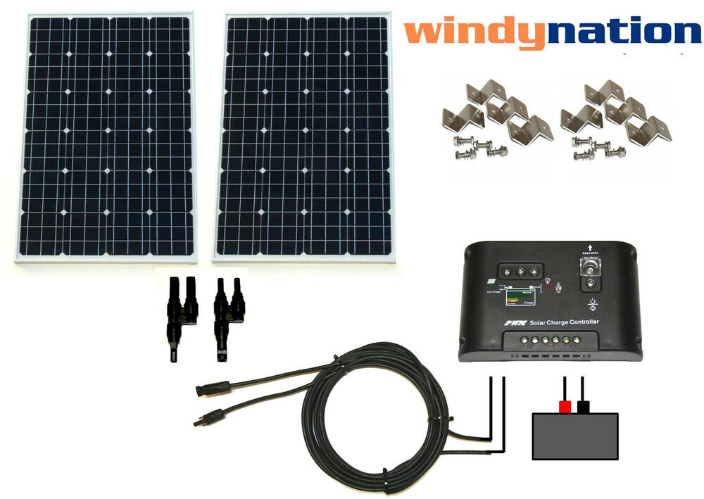 Diagram Complete Kit 200 Watt 200w 200watts Photovoltaic Pv Solar