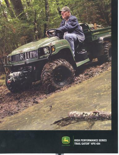 john deere trail gator hpx 4x4 sales brochure new ebay. Black Bedroom Furniture Sets. Home Design Ideas