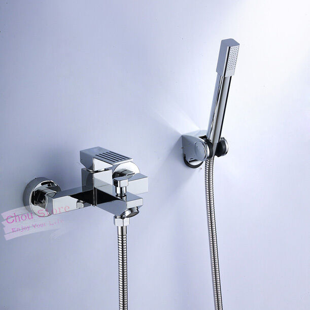 chrome bathroom shower faucet set with hand held shower b128 ebay