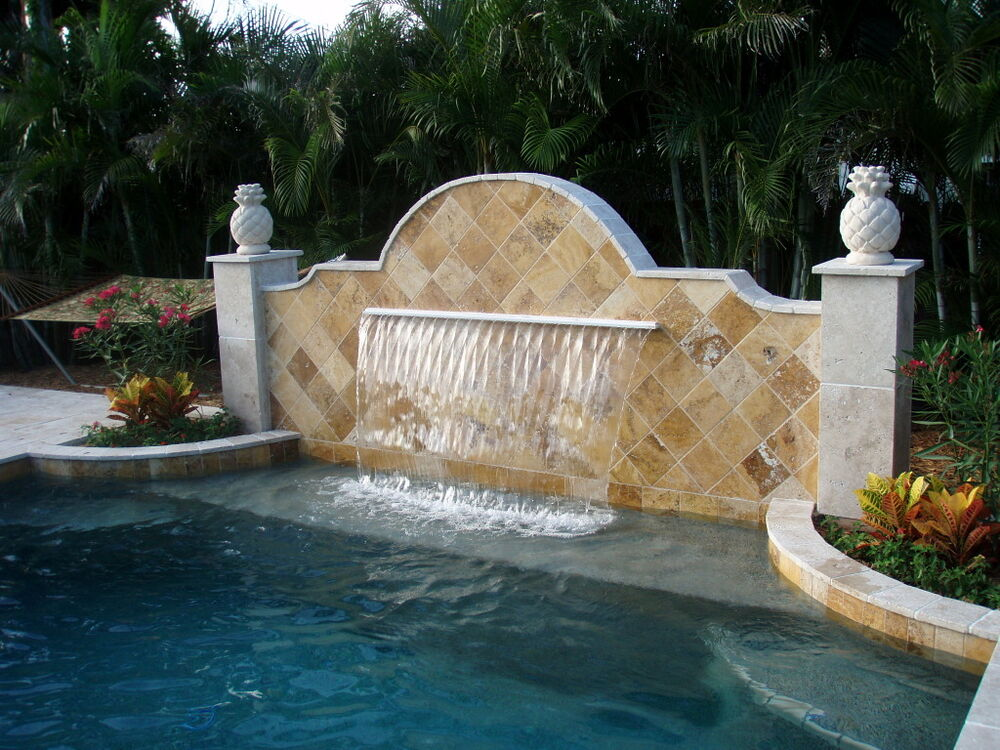 Pool Aquatics Sheer Descent Water Fall Fountain Pond