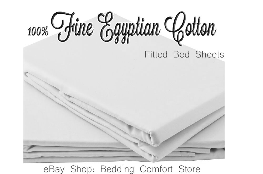 Single Full Size Fitted Bed Sheet  Cotton Percale