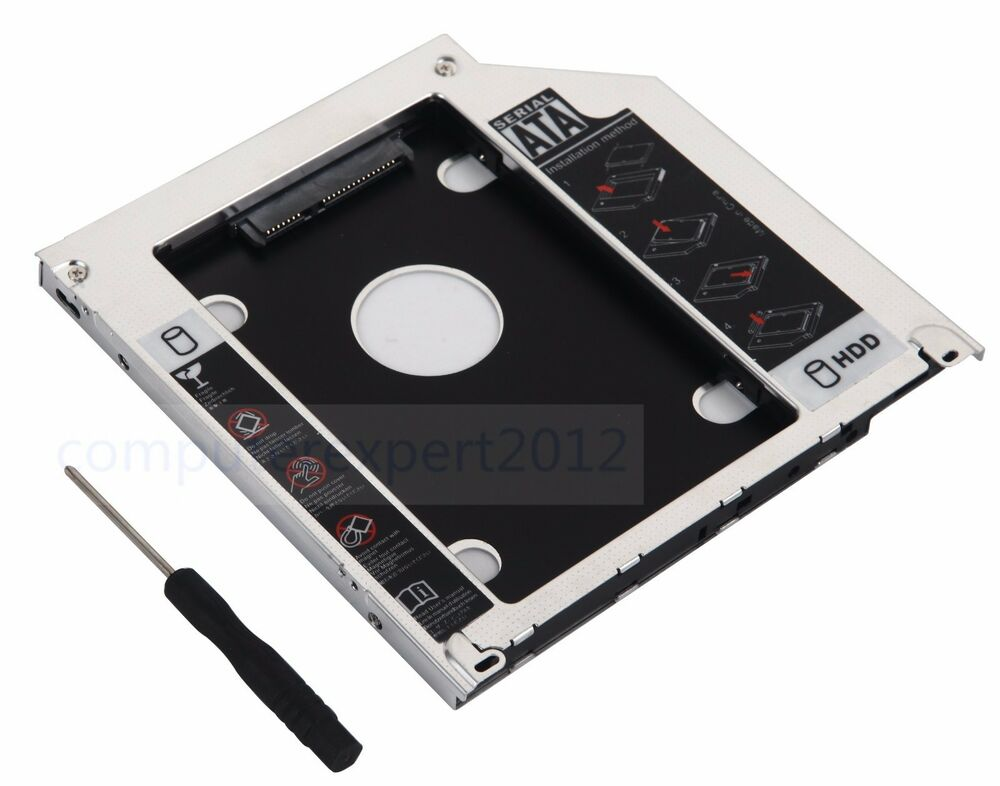 2nd hdd ssd sata hard drive caddy adapter for macbook pro unibody superdrive dvd ebay. Black Bedroom Furniture Sets. Home Design Ideas