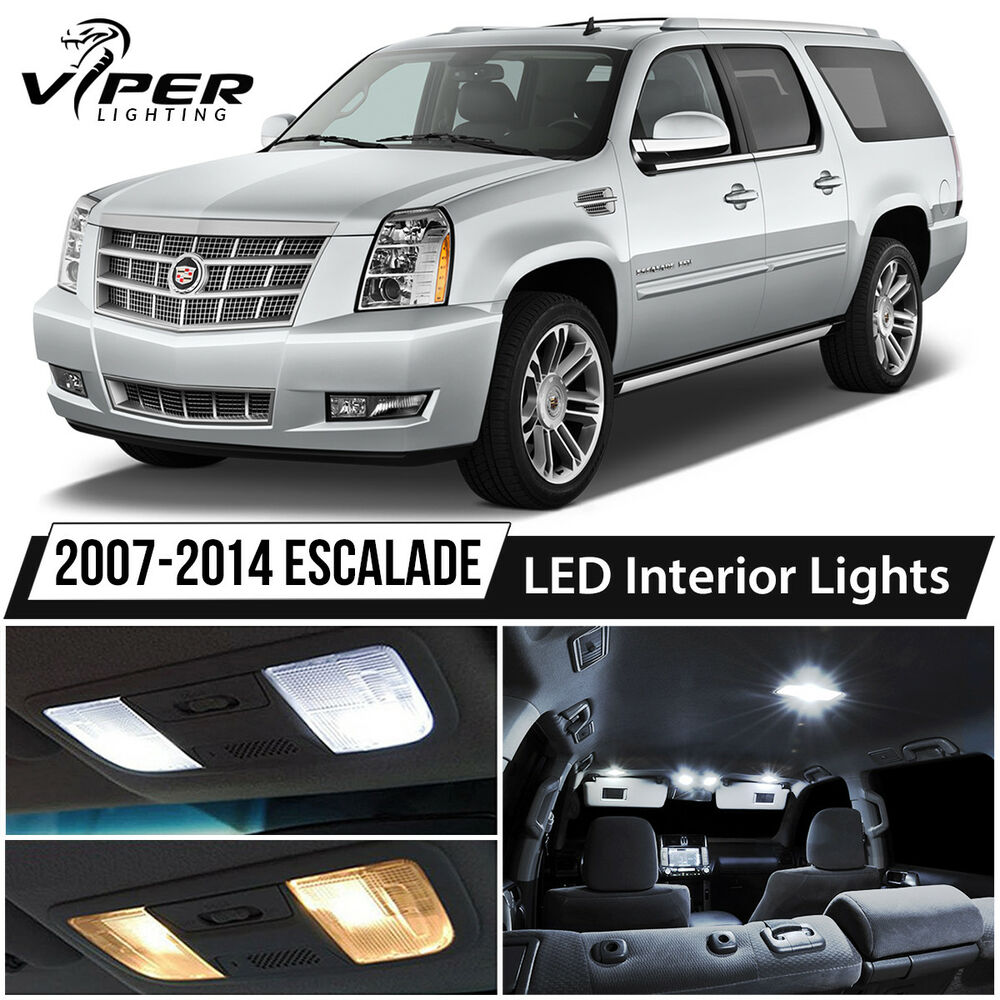 2007 2014 Cadillac Escalade White Led Lights Interior Package Kit Ebay
