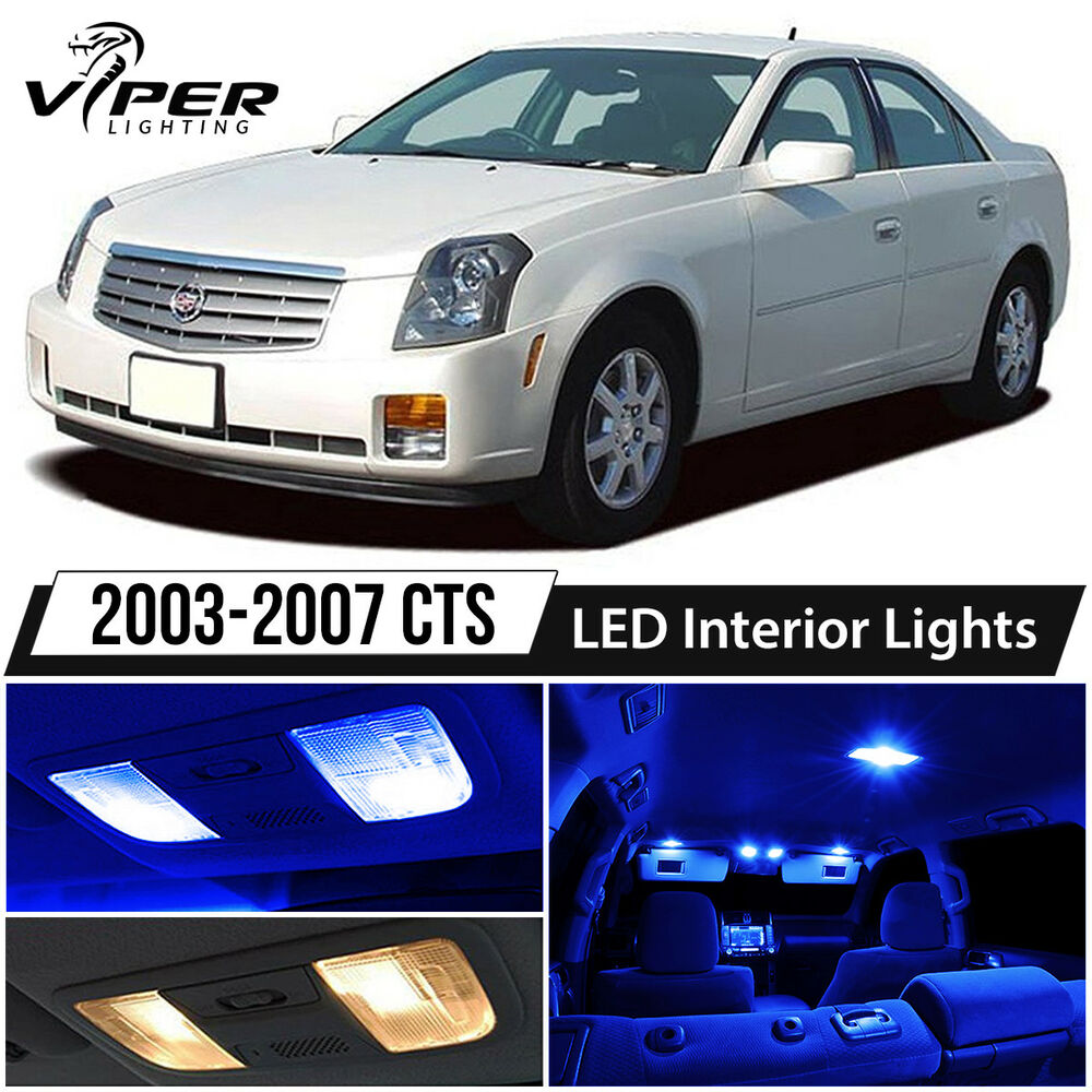 2003-2007 Cadillac CTS / CTS-V Blue LED Lights Interior
