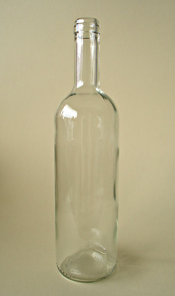 24 x 750ml wine bottle clear glass bordeaux homebrew wine for Making glasses from bottles