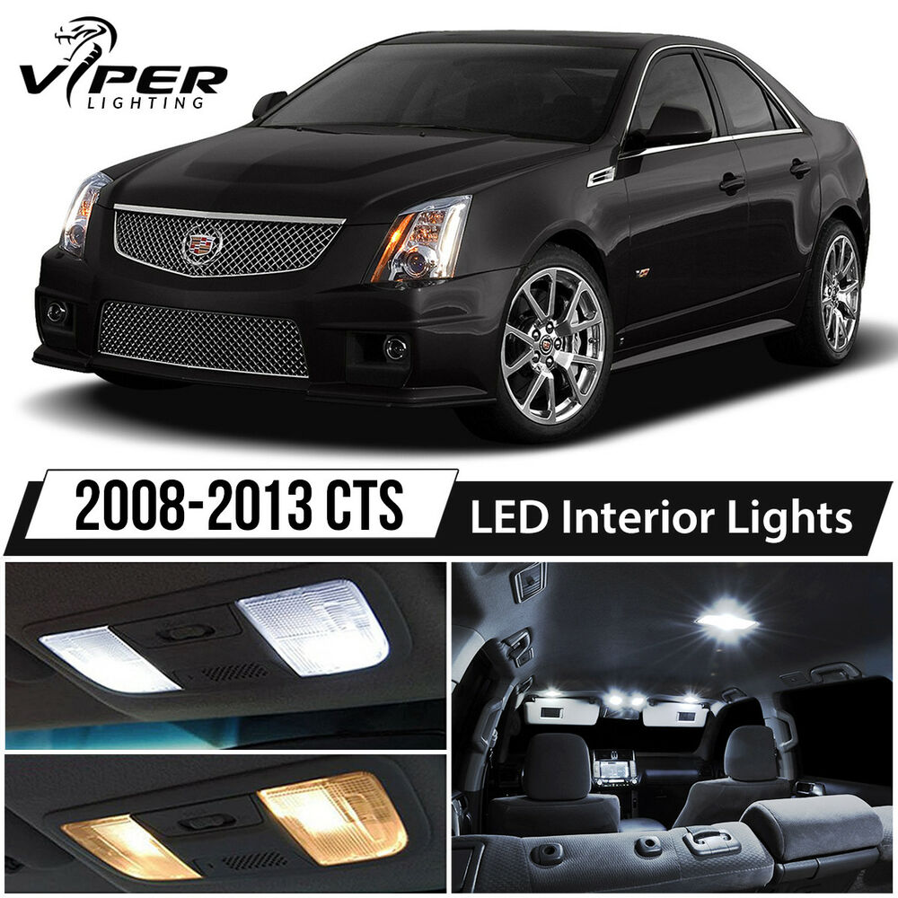 2008-2013 Cadillac CTS / CTS-V White LED Lights Interior