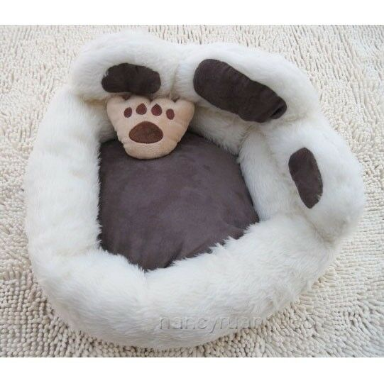Cute White Bear S Paw Shaped Pet Dog Cat Sofa Bed House