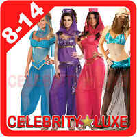 New Ladies Exotic Belly Dancer Genie Arabian Nights Fancy Dress Up Party Costume