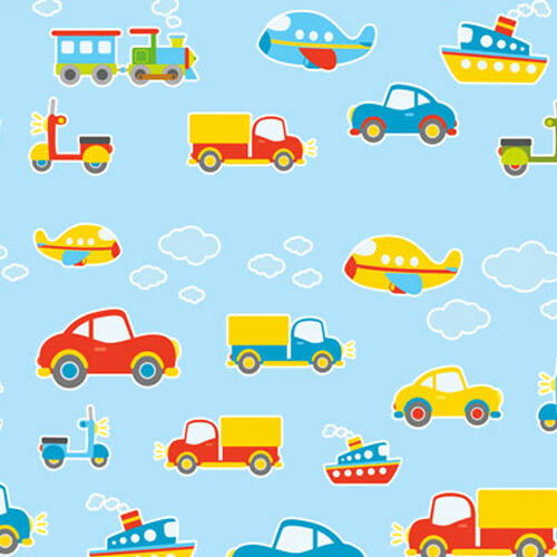 Cute Vehicles Wall Stickers Boys Room Girls Bedroom Baby