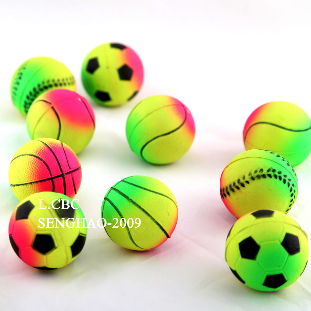 24xsolid rubber bouncy balls 62mm vending dog toys ebay