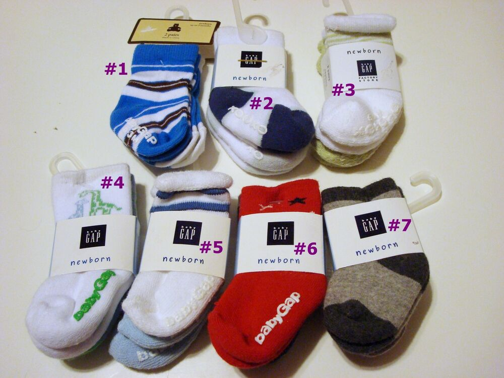 Nwt Baby Gap Boy Booties Socks Pair Packs Infant