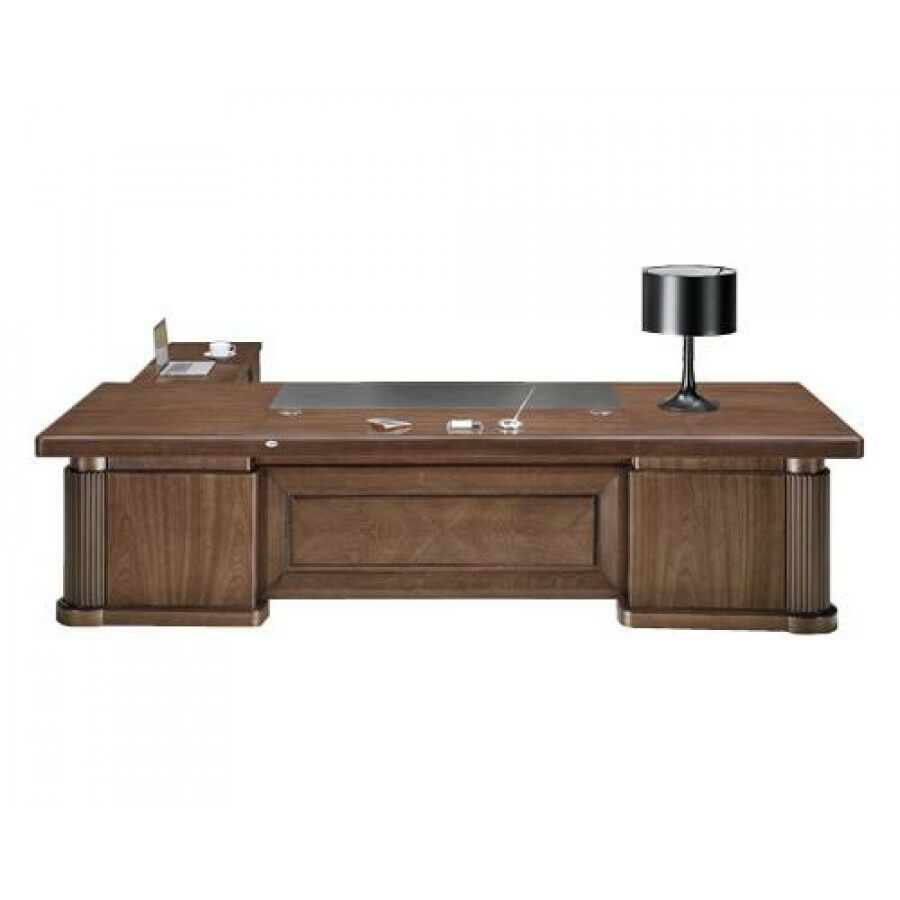 Sandhurst gra k3y321 extra large executive office desk 3 - Walnut office desk ...