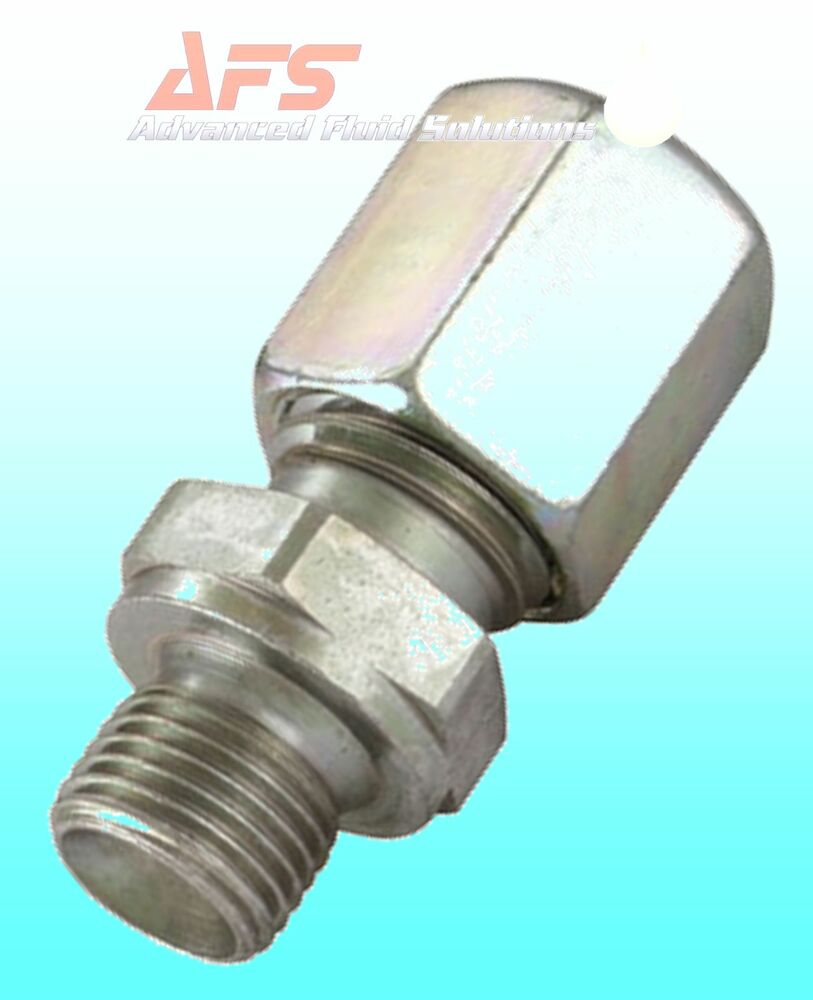 Hydraulic straight metric tube male bsp compression