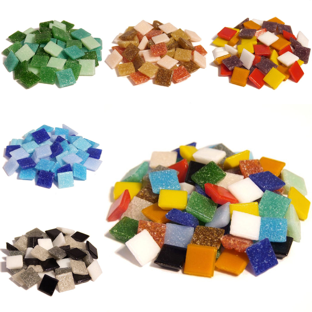 400 Vitreous Glass Mosaic Tiles For Arts And Crafts