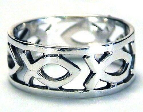 Sterling Silver Ichthus Ring