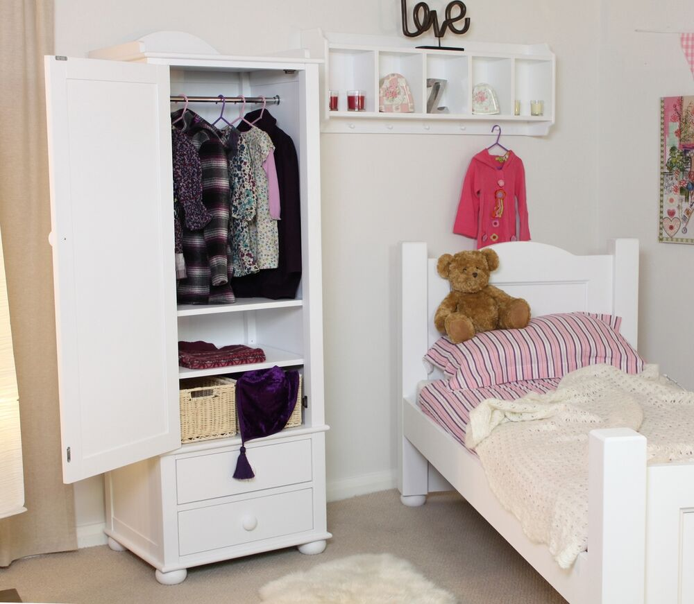 Linden White Painted Childrens Bedroom Furniture Single