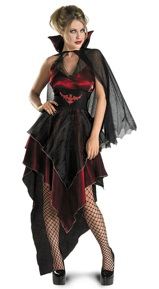 ethereal vampire twilight gothic black red dress up halloween sexy adult costume ebay. Black Bedroom Furniture Sets. Home Design Ideas