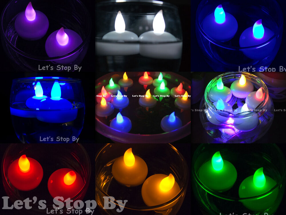 12 Flameless Floating Waterproof Led Tealight Candle