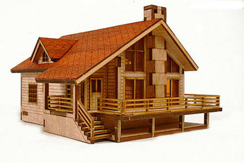 Garden House A Wooden Model Kit Ebay