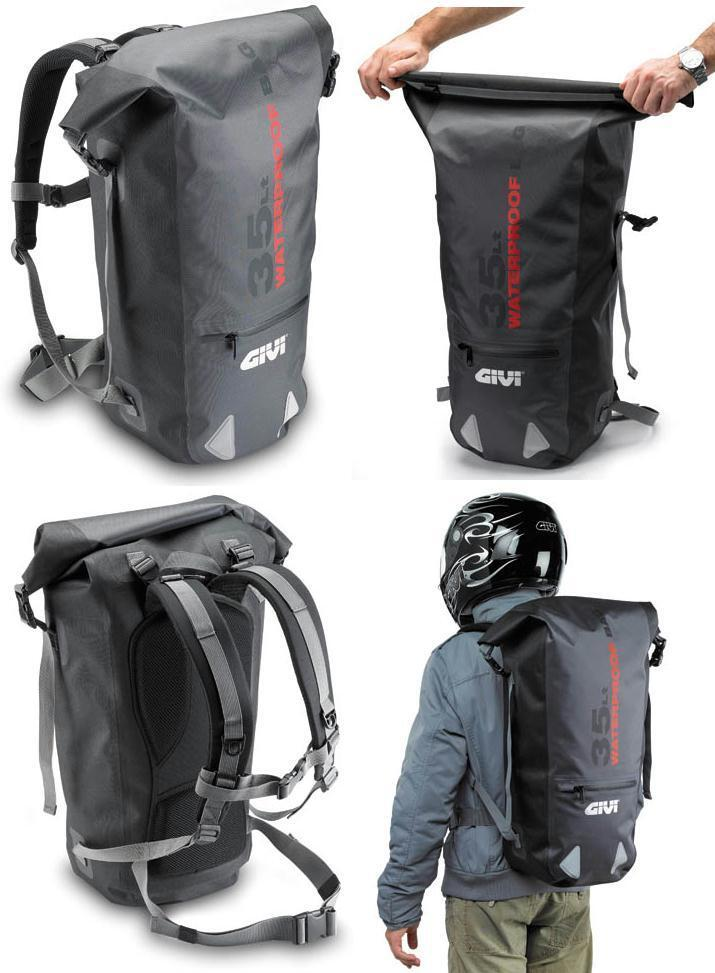 givi motorrad rucksack wp403 wasserdicht 35 liter ebay. Black Bedroom Furniture Sets. Home Design Ideas