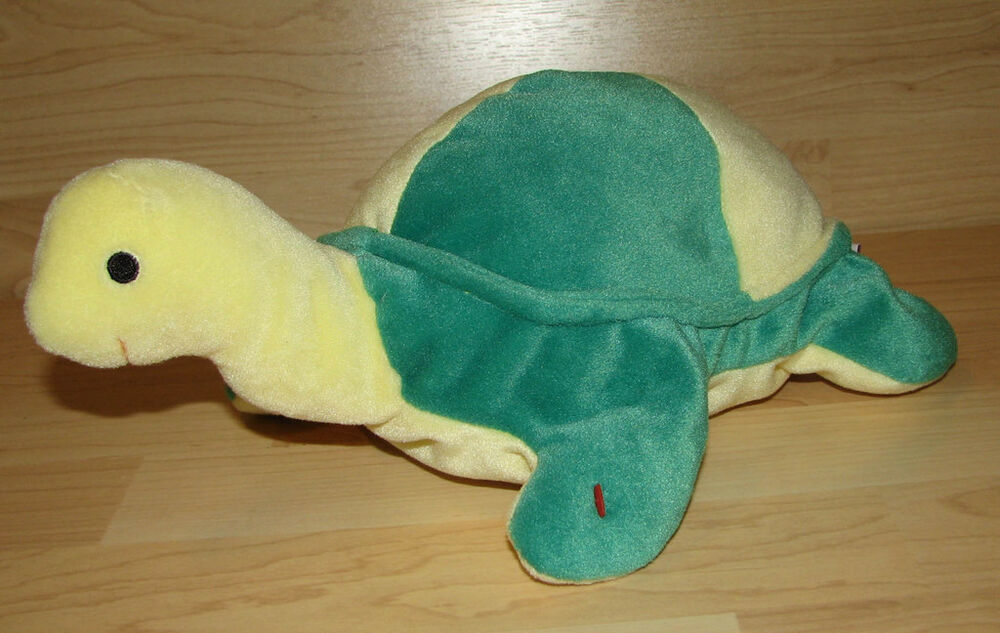 Ty Pillow Pals Snap Turtle Green Yellow Plush Beanie