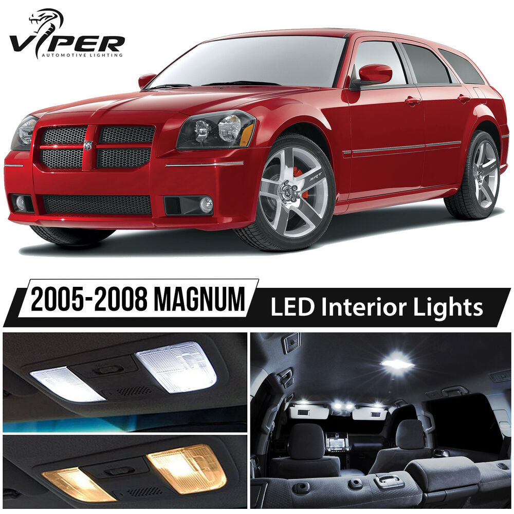 2005 2008 dodge magnum white led interior lights package - Dodge magnum interior accessories ...