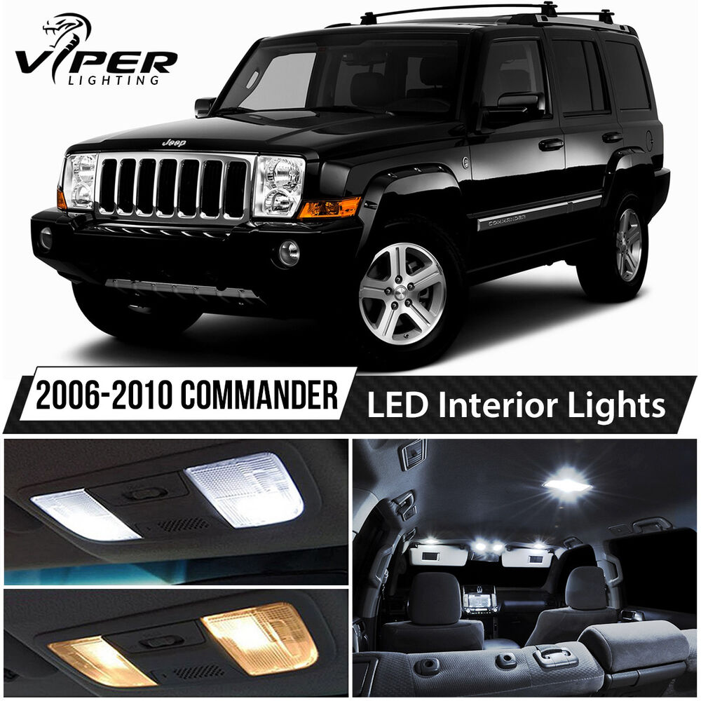 2006 2010 jeep commander white led lights interior package kit ebay. Black Bedroom Furniture Sets. Home Design Ideas