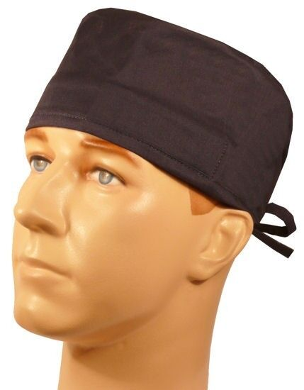 Surgical Scrub Hat Theatre Cap Dark Blue Sweatband Ebay