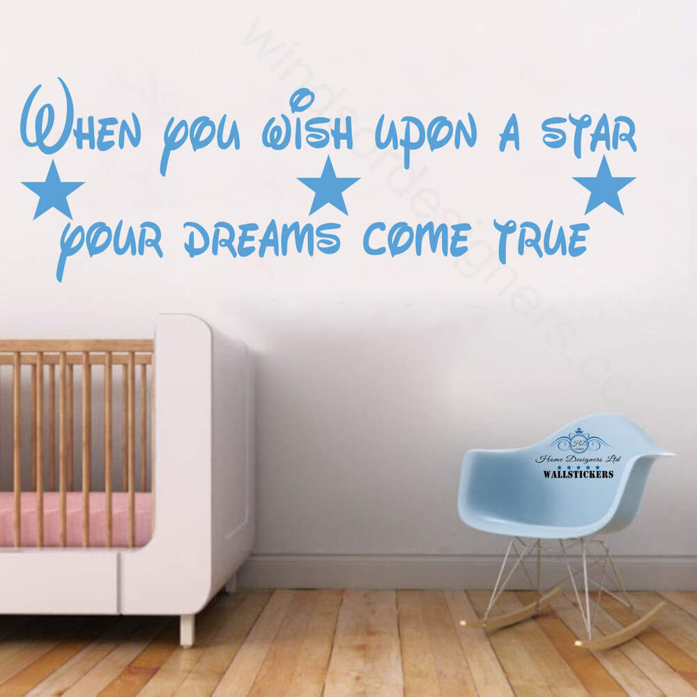when you wish upon a star dream wall sticker design