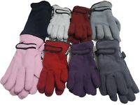 Ladies Womens Polar Fleece Gloves Insulated 3M Thinsulate  Winter Wrist Gloves